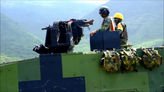 president tsai ing wen presides over military drills in taiwan as part of an annual exercise which simulates incoming attacks from china the biggest... - military exercise stock videos and b-roll footage