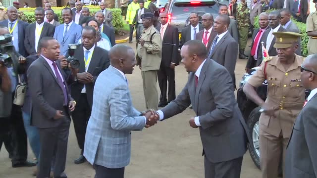 president uhuru kenyatta is declared victor of kenya's deeply divisive election gaining 98 percent of the vote in the absence of his rival raila... - raila odinga stock videos and b-roll footage
