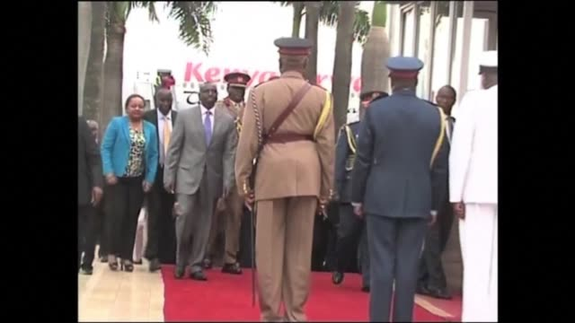 president uhuru kenyatta was welcomed by thousands cheering him home thursday a day after becoming the first sitting president to appear before the... - international criminal court stock videos and b-roll footage