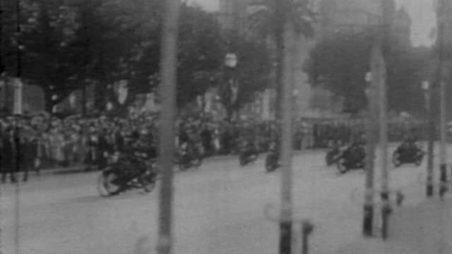 President Uriburu after being confirmed by Congress parades with a military entourage to the Casa Rosada as the Presidential Palace is known in...