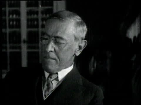 s president woodrow talks in an office / france - 1918 stock videos and b-roll footage