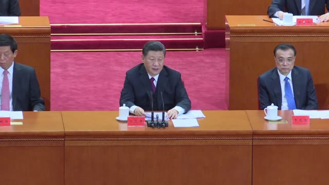 president xi jinping urges china's youth to be loyal to the communist party as he seeks to whip up patriotic sentiment in a nationalist speech... - presidente video stock e b–roll