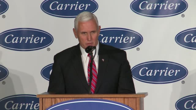 vídeos de stock, filmes e b-roll de wgn presidentelect donald trump began his victory lap in indianapolis with a tour of the carrier corporation's plant where he says he saved more than... - moving activity