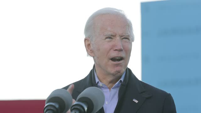 president-elect joe biden campaigns with democratic candidates for the u.s. senate jon ossoff and rev. raphael warnock the day before their runoff... - georgia us state stock videos & royalty-free footage