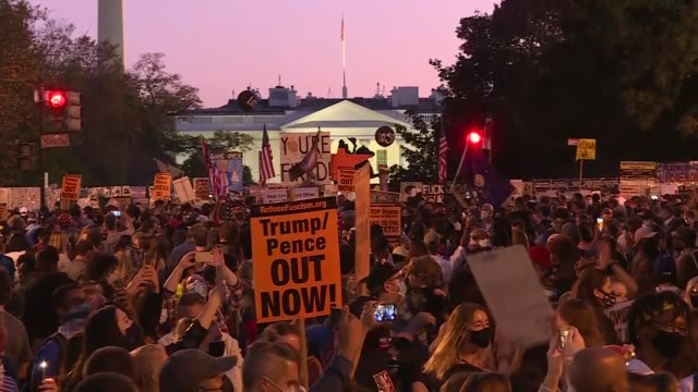 president-elect joe biden's supporters celebrate the victory in front of the white house on saturday . us democrats celebrated the white house... - nomination stock videos & royalty-free footage