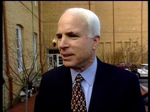 presidential campaign: attack adverts:; usa: south carolina: columbia: ext senator john mccain interviewed sot - there's another poll coming out... - john mccain stock videos & royalty-free footage