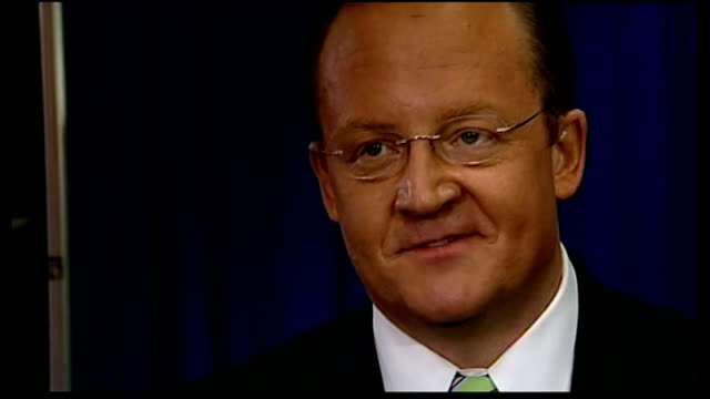 presidential campaign: campaigning continues in swing state of virginia ahead of second debate; location unknown: int robert gibbs interview sot - virginia us state stock videos & royalty-free footage