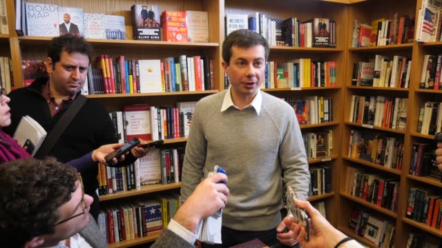 us presidential candidate and mayor of south bend indiana pete buttigieg talks about campaign finance form pledges to not take corporate pac money so... - corporate business stock videos & royalty-free footage