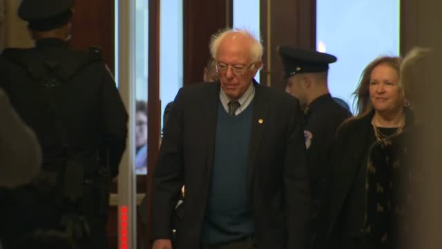 us presidential candidate and vermont senator bernie sanders arrives inside the capitol building senate carriage entrance prior to a sitting for the... - vermont stock videos & royalty-free footage