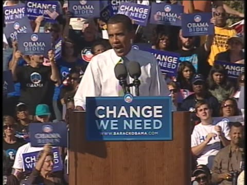 presidential candidate barack obama campaigns in cincinnati, ohio. - united states and (politics or government) stock videos & royalty-free footage
