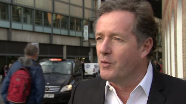 Presidential candidate Donald Trump calls for all Muslims to be banned from US New York EXT Piers Morgan interview SOT