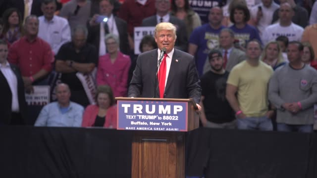 us presidential candidate donald trump compares his wall to the great wall of china 'you can't build the wall china built a wall thirteen thousand... - rede stock-videos und b-roll-filmmaterial