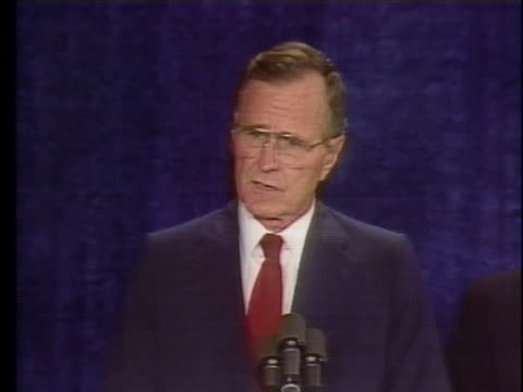 presidential candidate george hw bush says the loss of general muhammed zia is a great tragedy - united states and (politics or government) stock videos & royalty-free footage