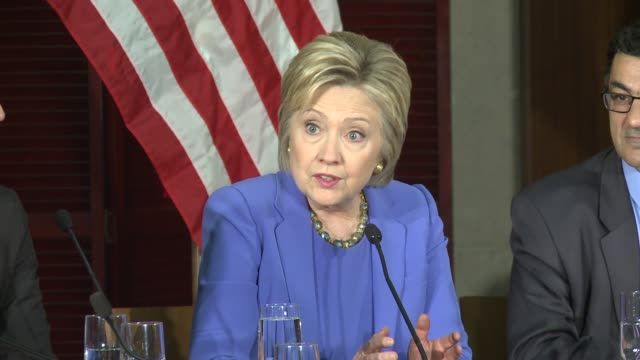 us presidential candidate hillary clinton took a break from fundraising during her southern california tour to join los angeles government and... - brie stock videos & royalty-free footage