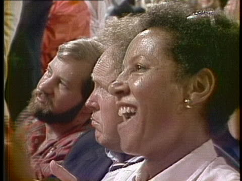 presidential candidate jesse jackson speaks at the 1984 democratic national convention. - united states and (politics or government) stock videos & royalty-free footage
