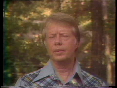 presidential candidate jimmy carter says economists say unemployment can be attacked by targeting job programs in key areas of the country without... - (war or terrorism or election or government or illness or news event or speech or politics or politician or conflict or military or extreme weather or business or economy) and not usa stock videos & royalty-free footage