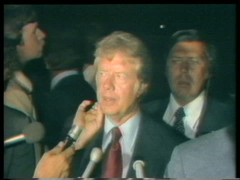 us presidential candidate jimmy carter talks about looking for and interviewing a vice presidential running mate - 1976年点の映像素材/bロール