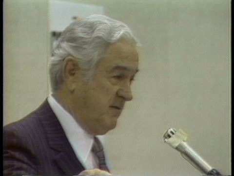us presidential candidate john connally claims that if he is elected president he will have a key not only to the front door but to the back door - john connally stock videos & royalty-free footage