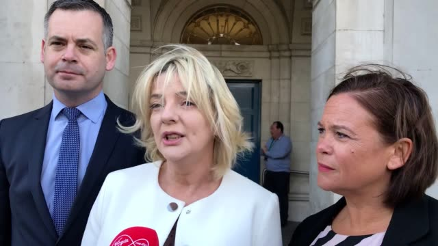 presidential candidate liadh ni riada calls president michael d higgins to participate in debates during the election campaign - michael d. higgins stock videos and b-roll footage
