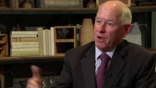 4 days to polling day USA Washington DC INT PJ Crowley setup shots with reporter / interview SOT