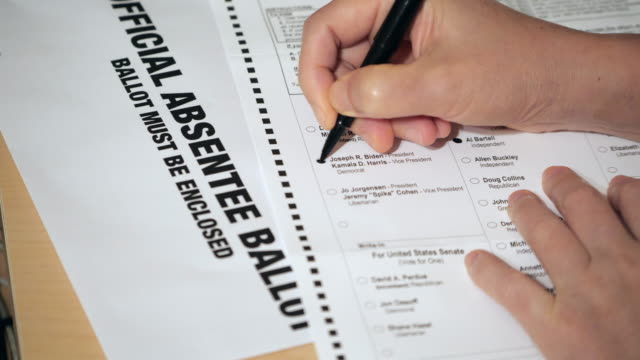 presidential election absentee ballot form filling - citizenship stock videos & royalty-free footage