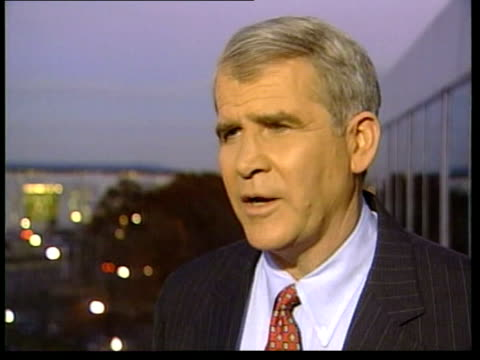 al gore to concede election race / george w bush becomes presidentelect usa oliver north interviewed sot praises george w bush - gore stock videos and b-roll footage