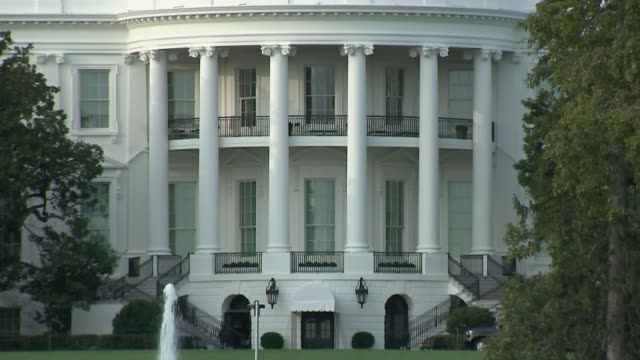 presidential election: build up to vice presidential debate; usa: washington dc: white house: ext general exterior views of white house. - building activity stock videos & royalty-free footage