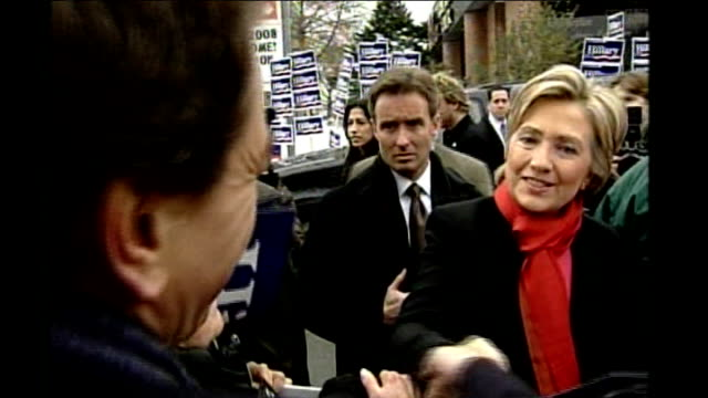 new hampshire primary usa new hampshire manchester supporters of hillary clinton holding placards and chanting female supporter yelling sot two... - 2008 stock videos & royalty-free footage