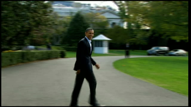 two days to do obama campaign usa washington dc white house ext barack obama walks out of white house waves and walks across lawn obama's campaign... - 2012 united states presidential election stock videos & royalty-free footage
