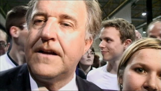 presidential election campaign yves bur interview sot - french national assembly stock-videos und b-roll-filmmaterial