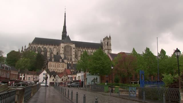 general views of emmanuel macron's hometown of amiens france amiens ext general views of the town and people to and fro along the streets - hometown stock videos and b-roll footage