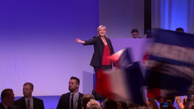 le pen fights to reach round two presidential election le pen fights to reach round two france marseille int various of national front leader and... - national front stock videos & royalty-free footage
