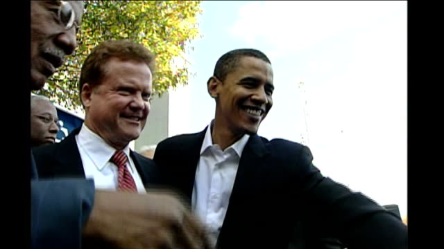 obama disowns preacher over 9/11 comments usa ext obama greeting supporters - preacher stock videos and b-roll footage