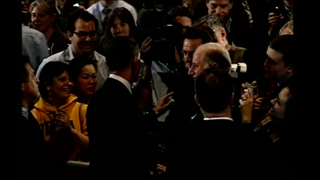 obama/huckabee win in iowa obama speaking to supporters and press barack obama interview sot there's a little village in ireland where my great great... - 2008 stock videos & royalty-free footage