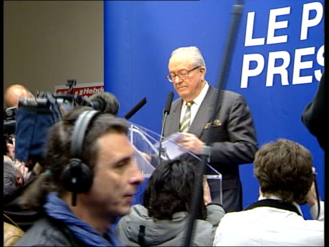 opposition to le pen itn france paris people protesting against presidential candidate jean marie le pen int national front leader jean marie le pen... - red pen stock videos & royalty-free footage