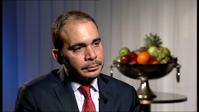 presidential election: prince ali bin al hussein interview; england: london: int prince ali bin al hussein interview sot - fifa stock videos & royalty-free footage