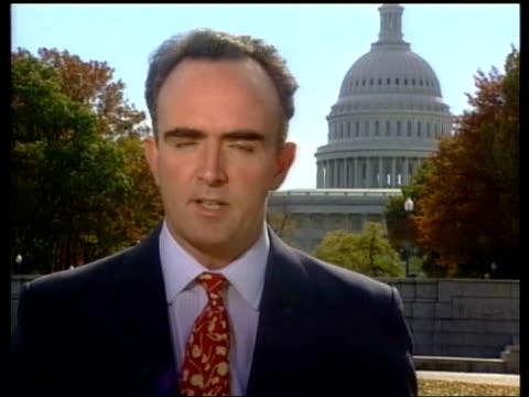 presidential election: recount continues:; itn washington dc: i/c - itv late evening bulletin点の映像素材/bロール