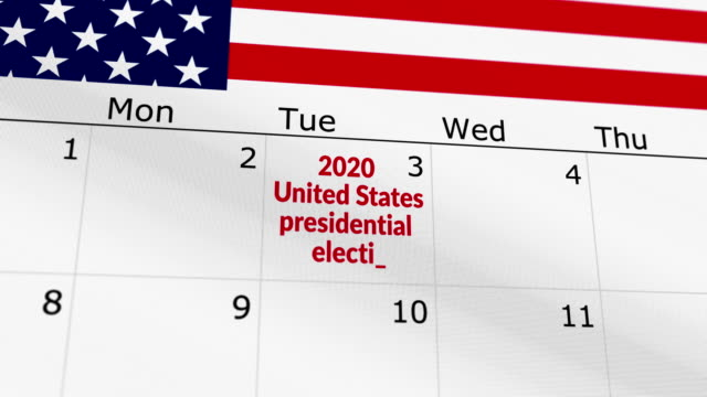 2020 usa presidential election reminder - election stock videos & royalty-free footage