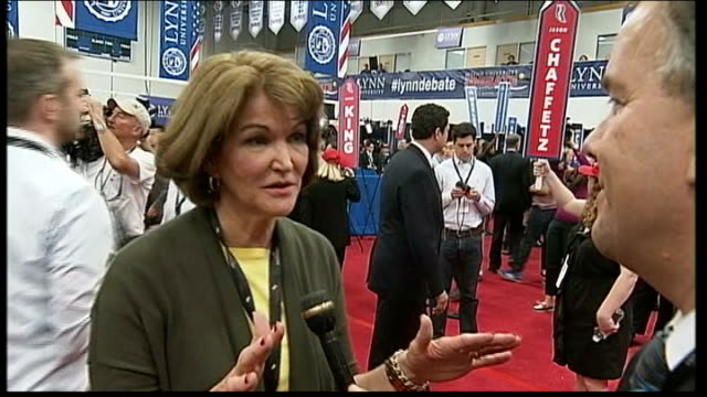 third debate won by barack obama general views spin room after debate bay buchanan interview sot as we came into this debate tonight the momentum was... - one senior man only stock videos and b-roll footage