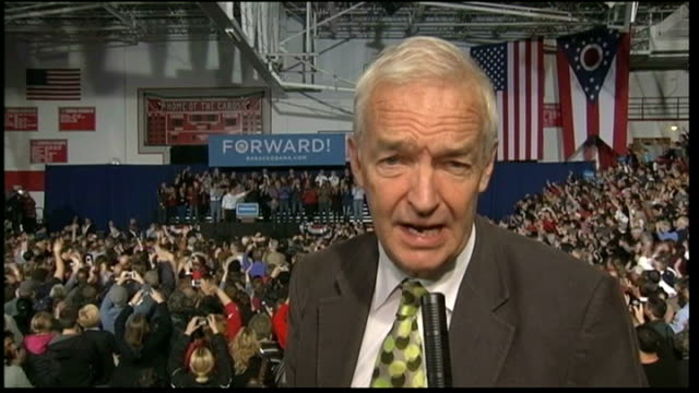three days to go people in crowd applauding reporter to camera man applauding woman taking photograph on mobile phone - 2012 united states presidential election stock videos & royalty-free footage