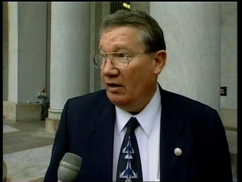 vote recount deadline itn usa washington dc rep duke cunningham interviewed sot want him to recognise that governor bush has won the election/ gore... - gore stock videos and b-roll footage