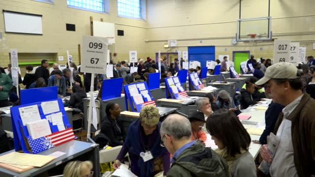 presidential election voters casting their votes during mid day / upper west side ps 163 west 96th street manhattan new york city usa - booth stock videos & royalty-free footage