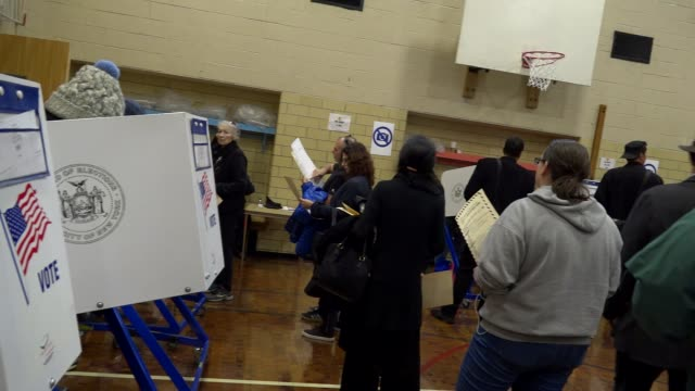 presidential election voters casting their votes during mid day / upper west side ps 163 west 96th street manhattan new york city usa - voting booth stock videos & royalty-free footage