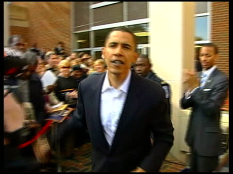 barack obama tx usa virginia richmond ext senator barack obama greeting crowds at rally for senatorial candidate jim webb - presidential candidate stock videos & royalty-free footage