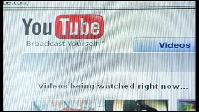 Candidate hopefuls campaign for young votes YouTube website on screen