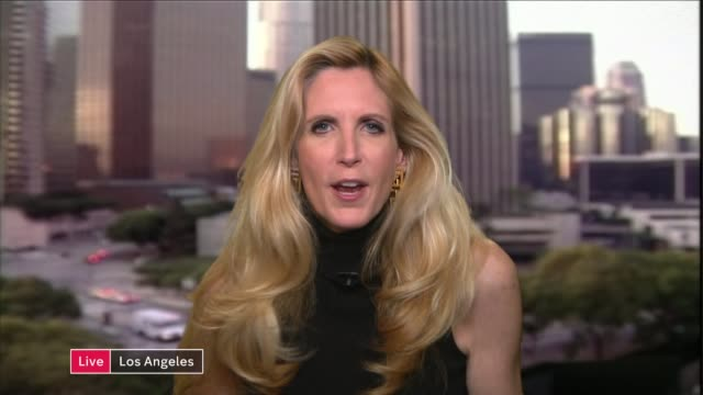Donald Trump damaged despite UTurn on abortion comments ENGLAND London GIR INT Chris Barron LIVE 2WAY interview from Washington SOT Ann Coulter LIVE...