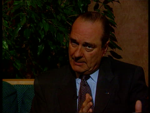 vidéos et rushes de presidential elections itn cms jacques chirac intvwd sot cannot ignore the british preoccupations and problems/hope that france could be a good... - président