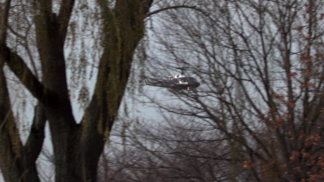 Presidential Helicopter over Potomac River