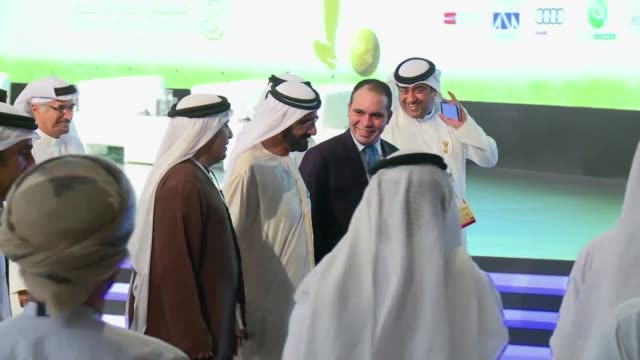 vídeos de stock, filmes e b-roll de fifa presidential hopeful prince ali bin al hussein on sunday attended a conference in dubai alongside uefa general secretary gianni infantino... - gianni infantino