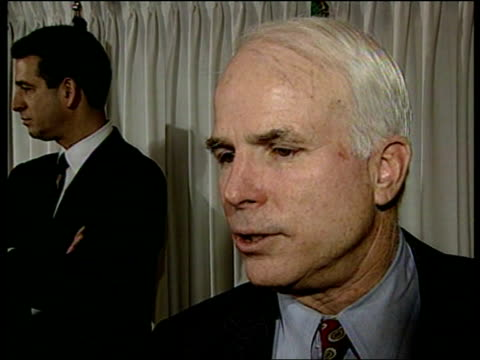 presidential inaugration; sen john mccain intvwd - had access us citizens don't have mccain at pkf calling for reform of campaign financing financing... - john mccain stock videos & royalty-free footage